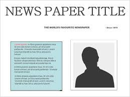 Free Newspaper Template Psd Newspaper Template Png World Of Label