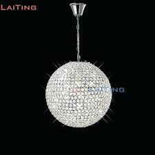 glass ball chandelier chandeliers round modern crystal hanging dining room lamp bubble diy