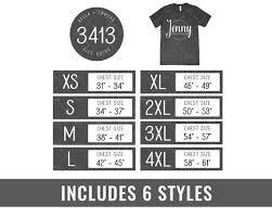 Bella Canvas 3413 Size Chart Bella Canvas Mockup Tshirt Size Chart Unisex Shirt Mockup Flatlay Mockup