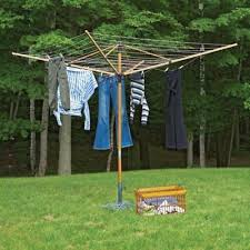 rotary clothesline washing line laundry clothes drying rack large outdoor pole
