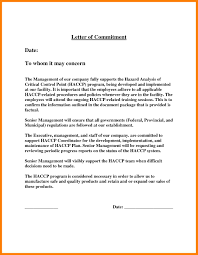 6 Commitment Letter Sample For Attendance Farmer Resume