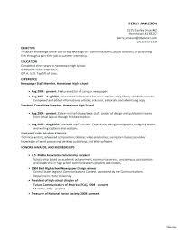 resume examples for internship undergraduate internship resume samples example of for no experience
