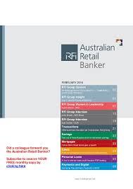 retail banker australian retail banker february 2016