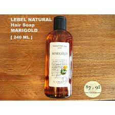 <b>LEBEL NATURAL Hair Soap</b> With Marigold 240ML   Shopee Malaysia
