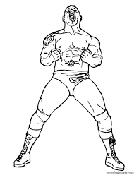 Coloring Pages Wwe Printable Coloring Pages Free And Hard Kane Wwe