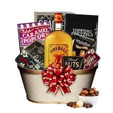 fireball liquor gift basket engravable