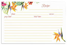 Recipe Cards Print Amazon Com Jot Mark Recipe Cards Floral Print Double Sided 4 X