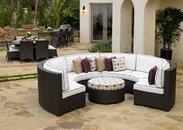 silver coast malibu 2 piece custom outdoor java wicker patio sectional set
