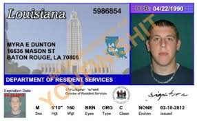 Id Od Louisiana Id Card Louisiana Card