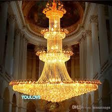 led modern crystal chandeliers lights fixture american big gold crystal drop light european hotel clubs home indoor lighting d120cm 180cm bathroom