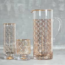 jet setter gold glassware collection vintage style rosanna relish decor