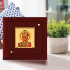 diviniti mdf photo frame gold plated normal foil guru harkrishan sahib ji mdf 1a