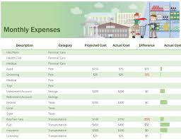 Monthly Income And Expenses Track Monthly Income And Expenses For Your Household With