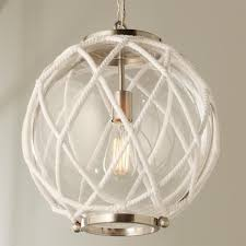 Nautical Globe Pendant Light White Rope Globe Pendant Globe Pendant White Rope