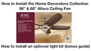 how to install 56 in and 68 in altura ceiling fan youtube