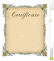 Free Template Certificate Blank Certificate Template Stock Illustration Illustration Of 24