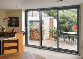 aluminium triple track patio doors