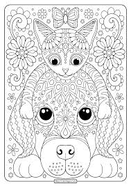 Free printable dogs coloring pages. Free Printable Cat And Dog Coloring Pages