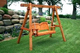 outdoor baby swing frame wooden seat bench best porch ideas on swinging wood most seen images