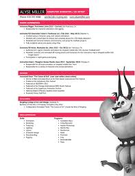 3d Animator Resumes Resume