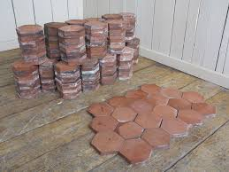 reclaimed terracotta hexagon quarry floor tiles