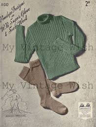 Peri Lusta Conversion Chart 1940s Land Girl Jumper And Hose Knitting Pattern In Crafts