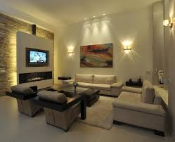 best modern living room with fireplace and tv
