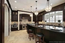 dark wood kitchen cabinets. Perfect Dark Luxury Kitchen Design On Dark Wood Cabinets C
