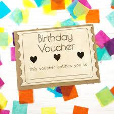 Birthday Voucher Wooden Card By Jayne Tapp Design