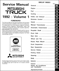 1992 mitsubishi truck repair shop manual set original covers all 1992 mitsubishi pickup truck models including mighty max and mighty max macro these books measure 8 5 x 11 and are
