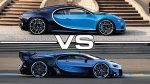 2017 Bugatti Chiron vs 2015 Bugatti Vision Gran Turismo - YouTube