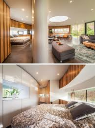 Modern House Bedroom This Circular House Is Built Into The Hillside Contemporist