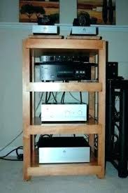 stereo component rack plans audio studio maple high end with black lacquer finish compone stereo component rack