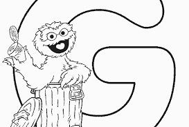 Sesame Street Happy Birthday Coloring Pages Free Printable
