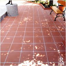 red terracotta floor tile