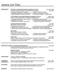 college sample resume