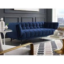 blue modern upholstery sofa for home