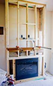 diy stacked stone fireplace first remodeling project part 2