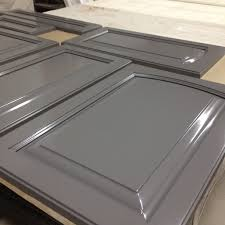 Spray Painting Kitchen Cabinets Spray Painted Kitchen Cabinets Done In Ben Moore Overcoat Cc554