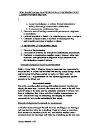prejudice essay essay prejudice and discrimination online homework help