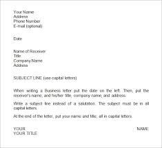 Formats Of Business Letter With Examples - Letters Font