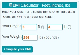 Bmi Calculator Feet Inches An Pounds