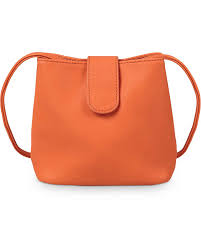 orange mini cross bag