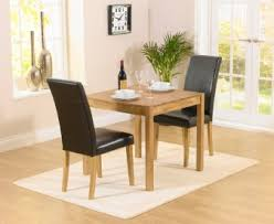 dining table with 2 chairs. oxford 80cm solid oak dining table with albany brown chairs 2 c