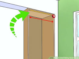full size of closet how to install sliding closet door floor guides plus how to