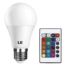 Colored Cfl Flood Lights Le Rgb Led Light Bulb A19 E26 6w Rgbw Color Changing Light Bulbs With Remote Control Memory Function Dimmable Led Bulbs For Home Decor Stage Party