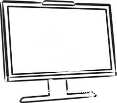 tv clipart black and white. computer black and white clip art free clipart 2 tv