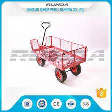 china transport tool garden mesh cart heavy duty garden wagon steel tubular handle supplier
