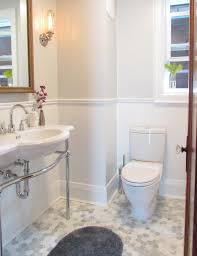 chair rail bathroom. Pretty Wall Mounted Soap Dispenser In Bathroom Beach Style With Small Toilet Next To Gray Chair Rail I