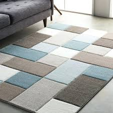 blue and brown area rugs wrought studio street modern geometric carved teal brown area for and blue and brown area rugs